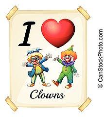 amour, clowns