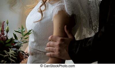 amour, couple, jeune, fenêtre, fond, sensuelles