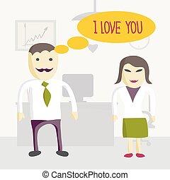 sur femme amour bureau r vasser heureux sur femme illustration elle s ance. Black Bedroom Furniture Sets. Home Design Ideas