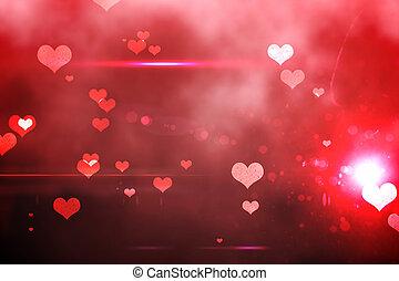 amour, digitalement, fond, engendré