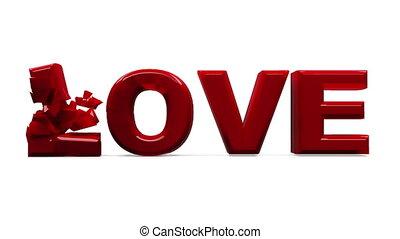 amour, explosion, chaîne, temps