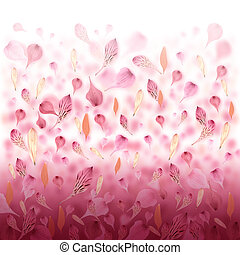 amour, fond, valentin, fleur, rose
