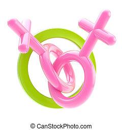 amour, gay, isolé, signe, permettre, lesbienne