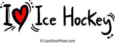 amour, hockey, glace