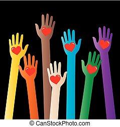 amour, liberté, paix, diversité, en-tête, bannière
