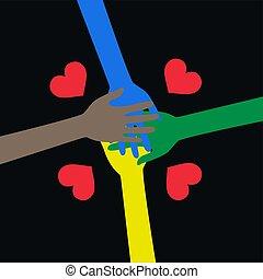 amour, liberté, paix, ethncity