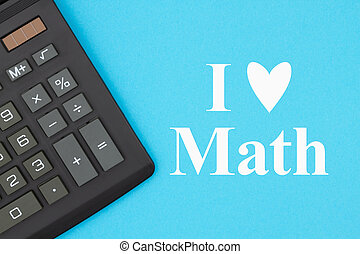 amour, message, math, calculatrice