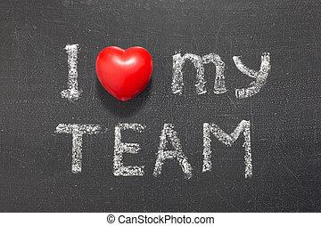 amour, mon, équipe