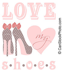 amour, mon, chaussures