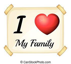 amour, mon, famille
