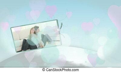 amour, montage, couples, jeune