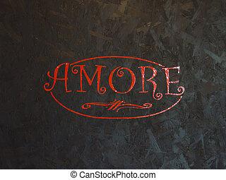 amour, mot, langue italienne