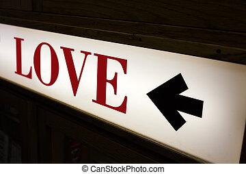 amour, mot, signe