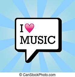 amour, musique, fond, illustration