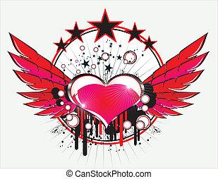 amour, musique, fond