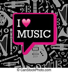 amour, musique, illustration.