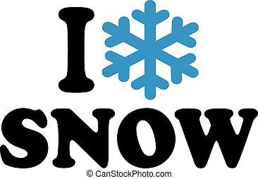 amour, neige