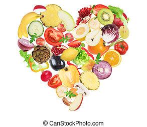 amour, nourriture saine