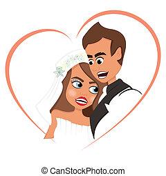 amour, nouveaux mariés
