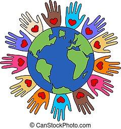 amour, paix, liberté, diversité