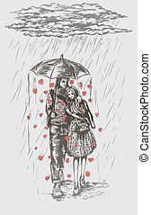 amour, pluie