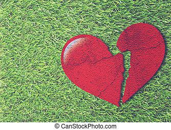 amour, problème, concept