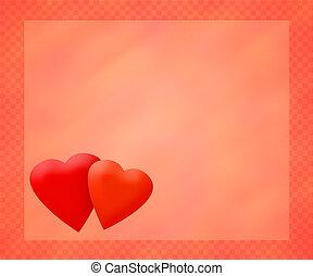Amour, rouges, fond