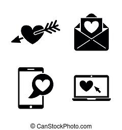 Amour. Simple Related Vector Icons