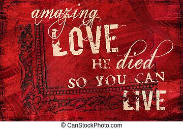 amour, surprenant, religieux, fond