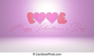 amour, texte, valentines, -, 4k, jour, heureux