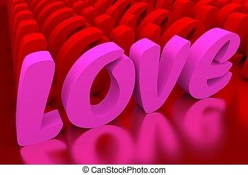 amour, valentineçs jour, fond
