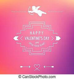 amour, valentine, citation, -, vecteur, jour, carte