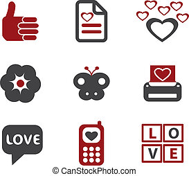 amour, vecteur, signes