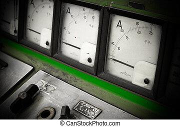 ampérage, contrôle, électrique