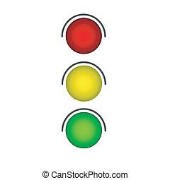 ampel, 交通, gr?n, ライト