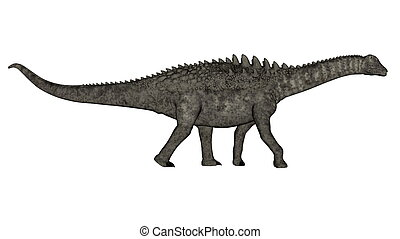 Ampelosaurus dinosaur - 3D render - Ampelosaurus dinosaur...