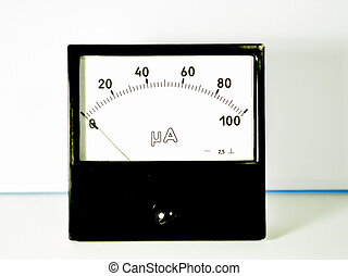 amperemeter, table, noir