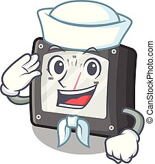 amperio, marinero, aislado, metro, mascota