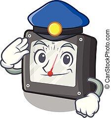 amperio, policía, aislado, metro, mascota