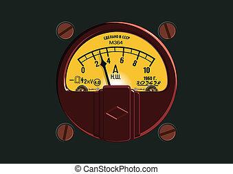 ampermeter, altmodisch