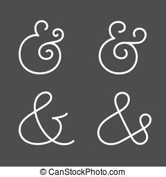 Ampersand collection - Four elegant and stylish custom...