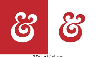 Ampersand - Custom ampersand. Hand drawn ampersand symbol...