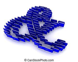 Ampersand Symbol Blue Concept