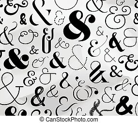 Ampersand symbol pattern - Ampersand pattern made from ...