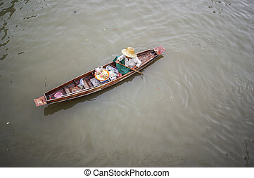 Amphawa floating market. a very famous sightseeing not far ...