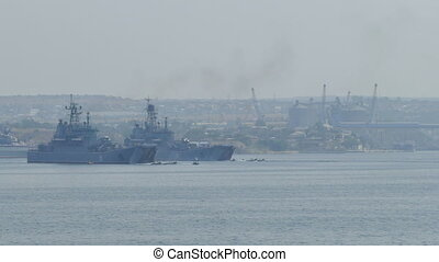 Amphibious landing - Parade of Russian Navy Day - July 31,...