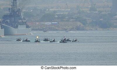 Amphibious landing - Parade of Russian Navy Day