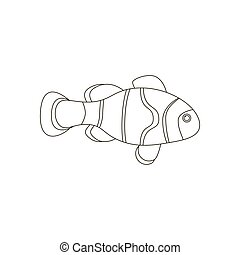 Amphiprion clown fish coloring pages