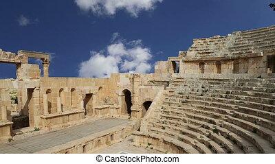 Amphitheater in Jerash, Jordan - Amphitheater in Jerash...