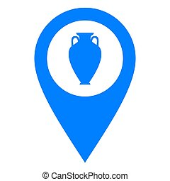 Amphora and location pin